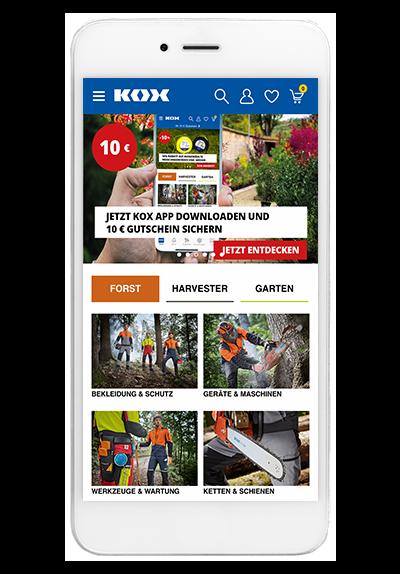 websale shop app sport kox
