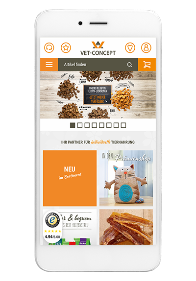 websale shop app vet concept