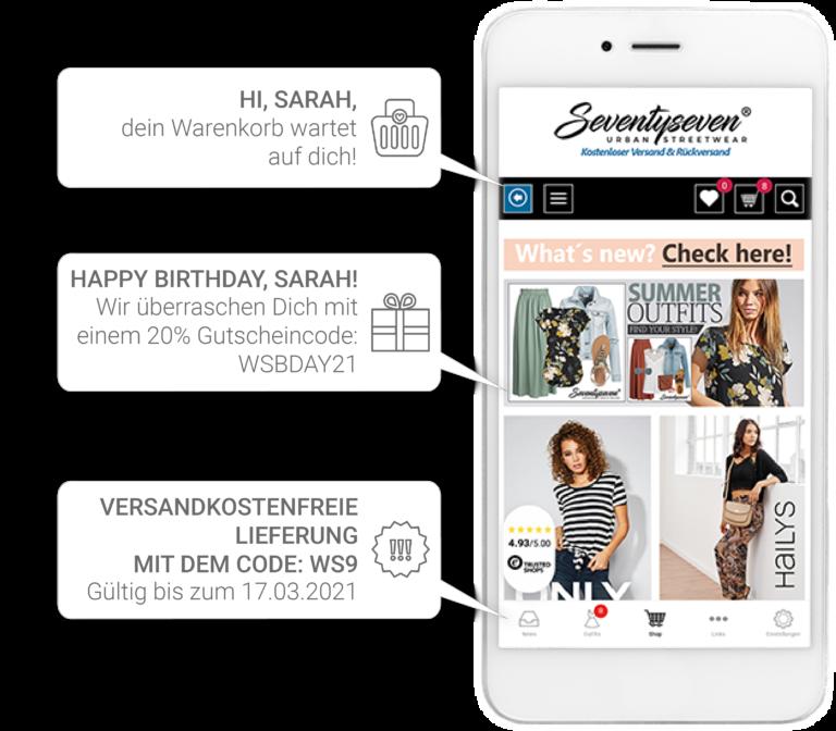 websale app für shopsoftware