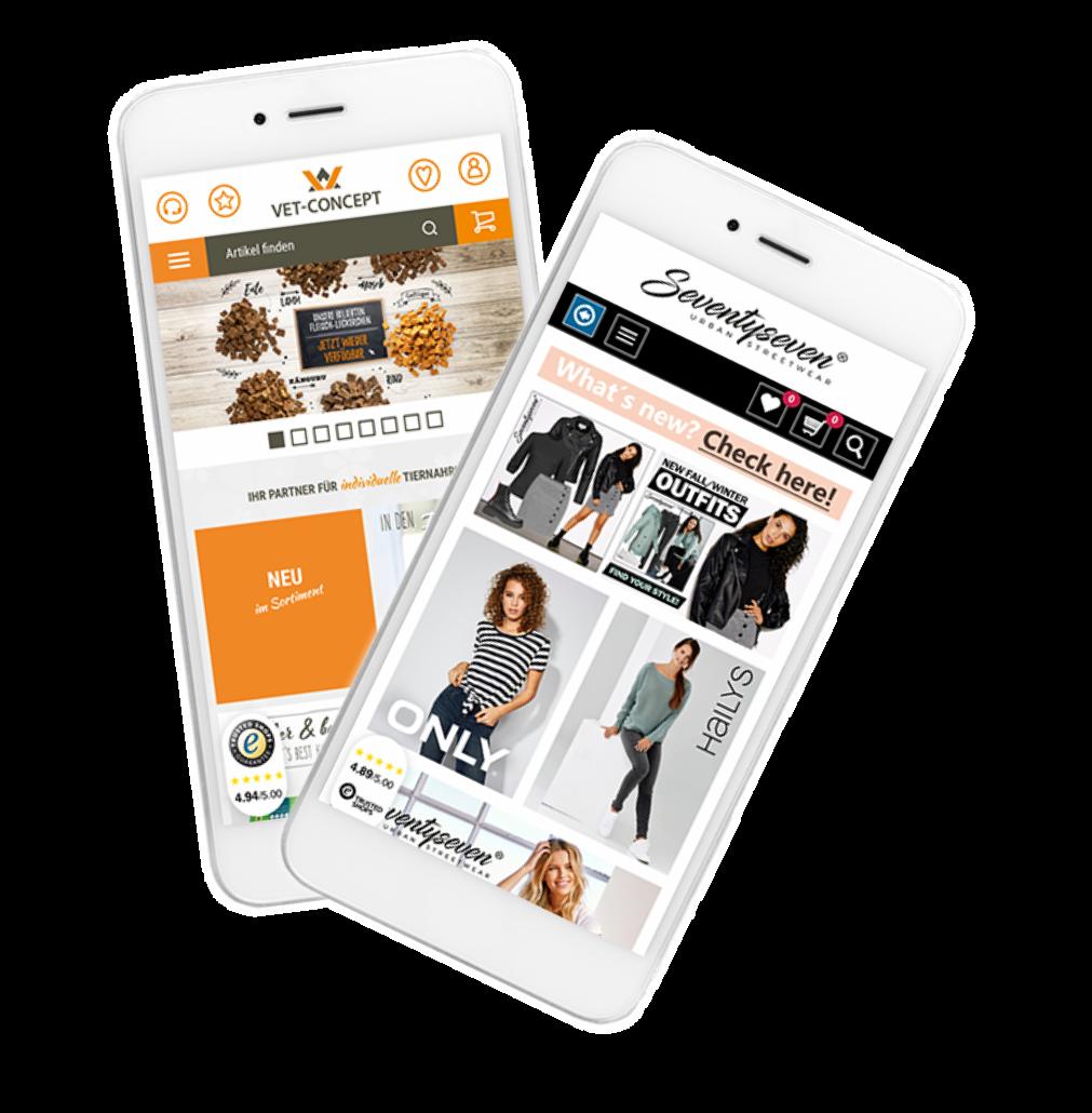 Mobile Shop Lösung von Websale